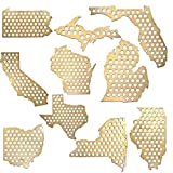 All 50 States Beer Cap Maps - Michigan Beer Cap Map MI - Glossy Wood - Skyline Workshop offers