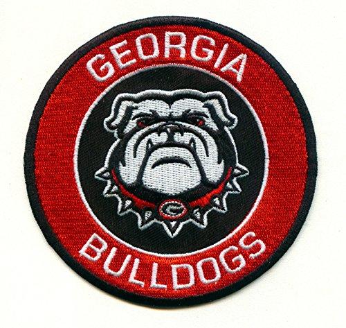University Bulldogs Football - University of Georgia Bulldogs UGA Round G Team Logo Iron on Jersey Patch