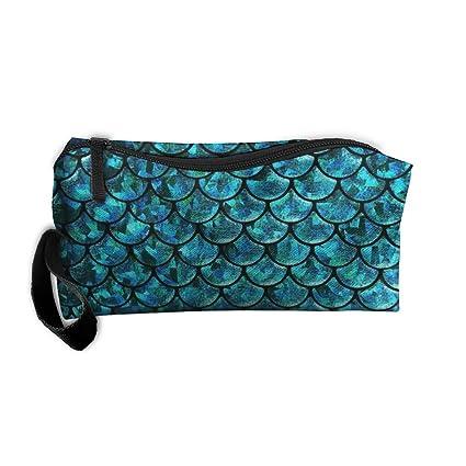 Colorida cola de sirena escala Extra Home portátil de viaje lencería sujetador maquillaje cosmético bolsa de