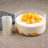 2 Rolls Transparent Clear Cake Collar,Mousse