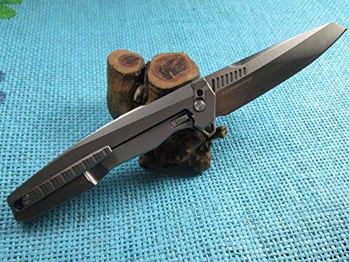 Twosun EDC No Screw Tenon-And-Mortise Work Titanium M390 Folding Knife TS88 by TwoSun (Image #4)