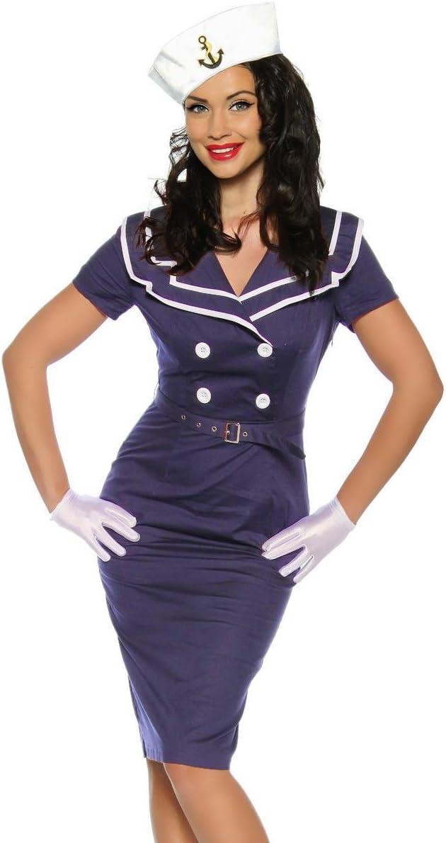 Vestido Vintage en Pin up Estilo o también como Marino / Disfraz ...