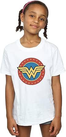 DC Comics Niñas Wonder Woman Circle Logo Camiseta