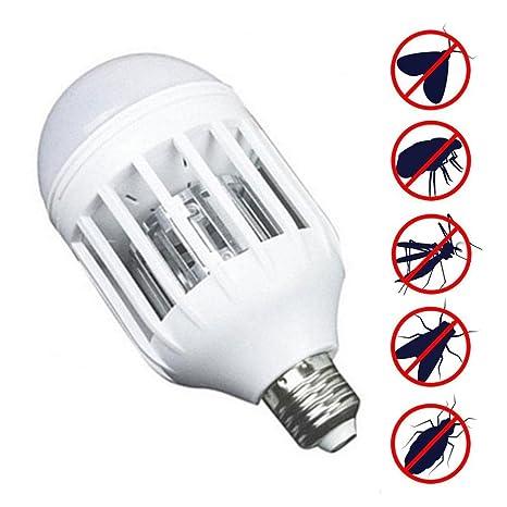 KOBWA Bug Zapper bombilla LED, 2 en 1 repelente de plagas, lámpara asesina de