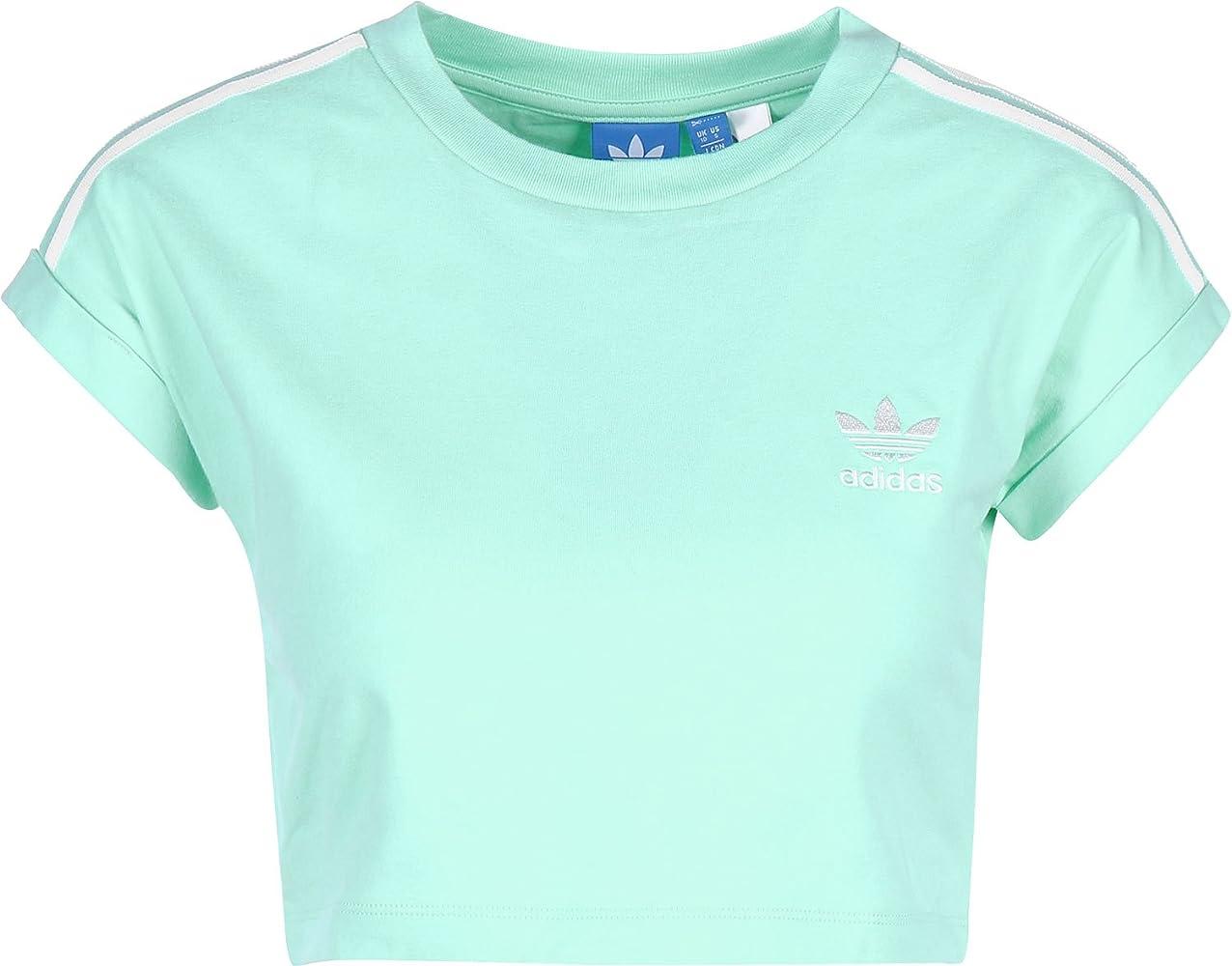 adidas Cropped Camiseta Top, Negro, Primavera/Verano, Mujer, Color Grün - (VERSEN), tamaño 40: Amazon.es: Ropa y accesorios