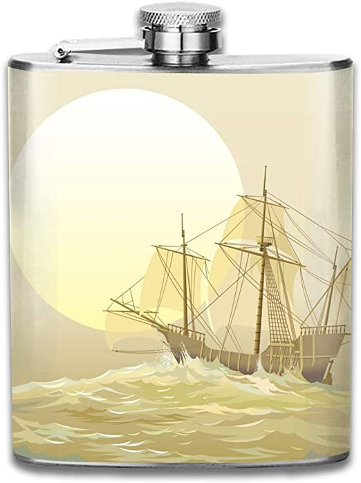 Caravel Columbus - Petaca pequeña de acero inoxidable para ...
