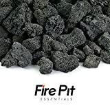 Fire Pit Essentials 10-pound 3/4″ Medium Black Lava Rock for Fireplace and Fire Pit For Sale