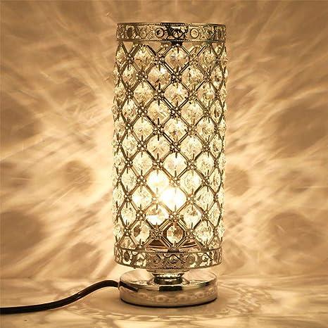 Crystal Table Lamp Bedroom Lights Bedside Lamp Silver