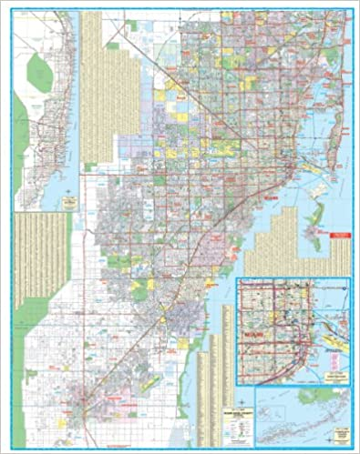 2010 Miami Dade County, FL (City Wall Maps): Dolph Map Co ... on