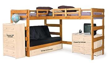 L Shaped Futon Loft Bed With Underbed Storage Amazon Co Uk Kitchen