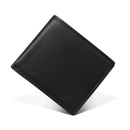 30025c863646cd Yamyannie Portafoglio Uomo Piccolo Porta Carte di Credito Portafoglio Uomo  in Pelle RFID Anti-Magnetico