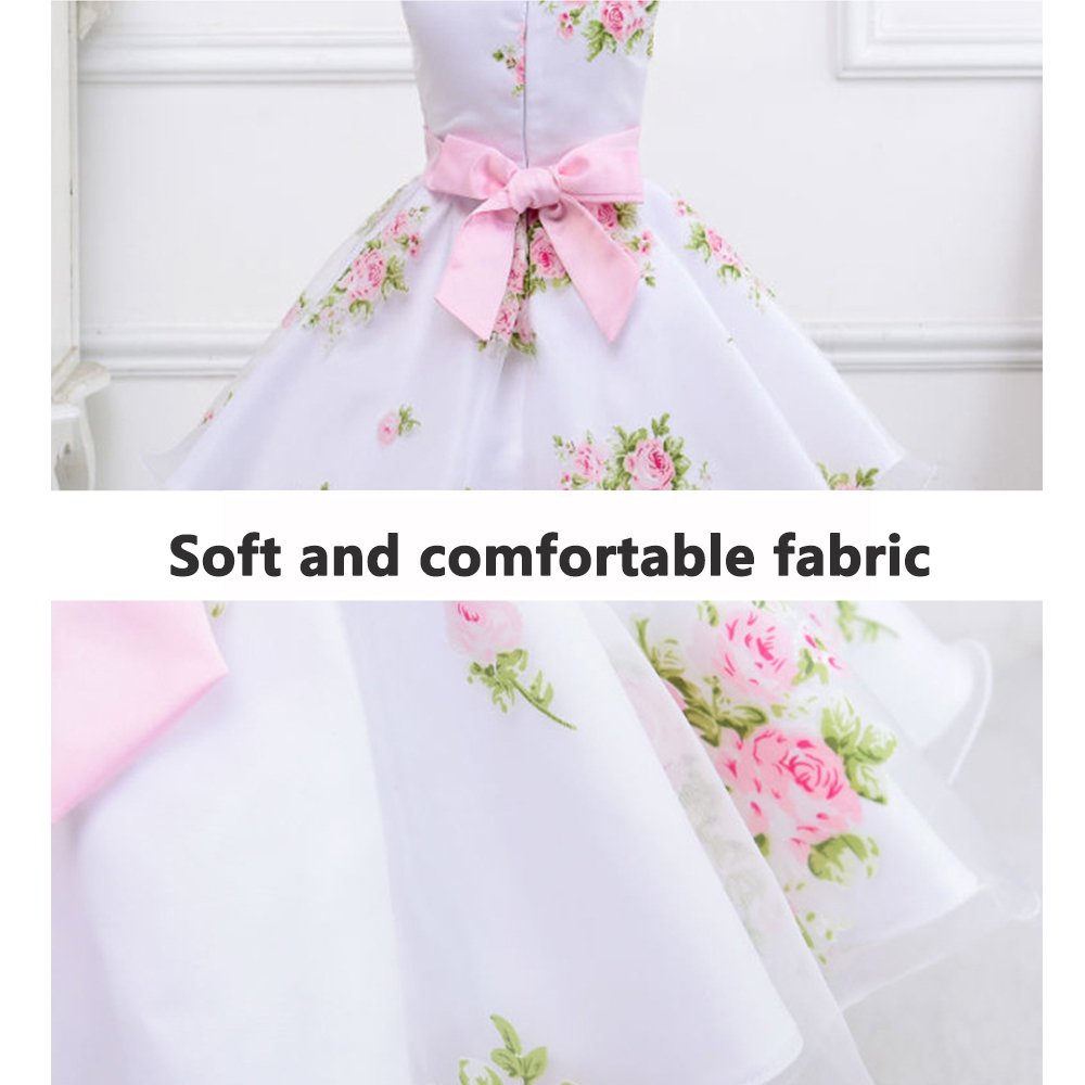 Best 2 8t Flower Girl Dress Pink For Wedding Party Pageant Princess