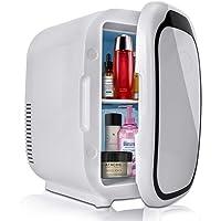 Mini nevera portátil capacidad 6 l con función fría para coche, caravana, casa, oficina y Dormitorios, 12/24 V CC