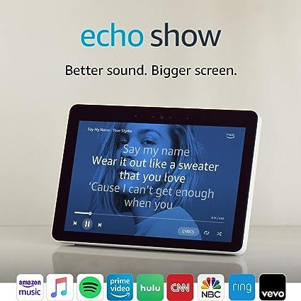 "Echo Show (2nd Gen) – Premium sound and a vibrant 10 1"" HD screen -  Sandstone"