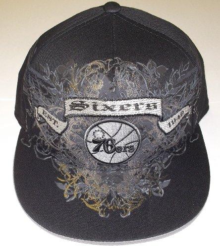 Philadelphia 76ers Flat Visor Flex Adidas Hat Size 6 7/8 7 1/4 (S/m) by adidas
