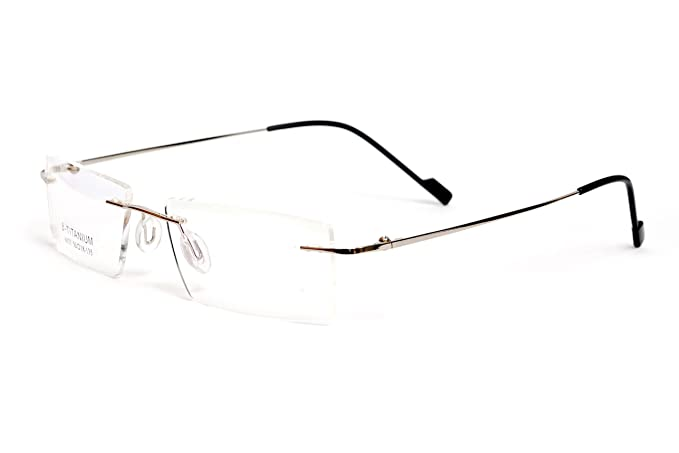 90bdb1954db Image Unavailable. Image not available for. Colour  Redex Rimless Eyewear  Frame(Silver ...