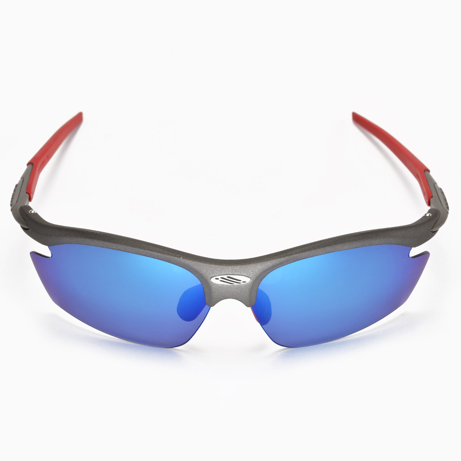 New Walleva Polarized Ice Blue Fire Red Lenses for Rudy Project Rydon