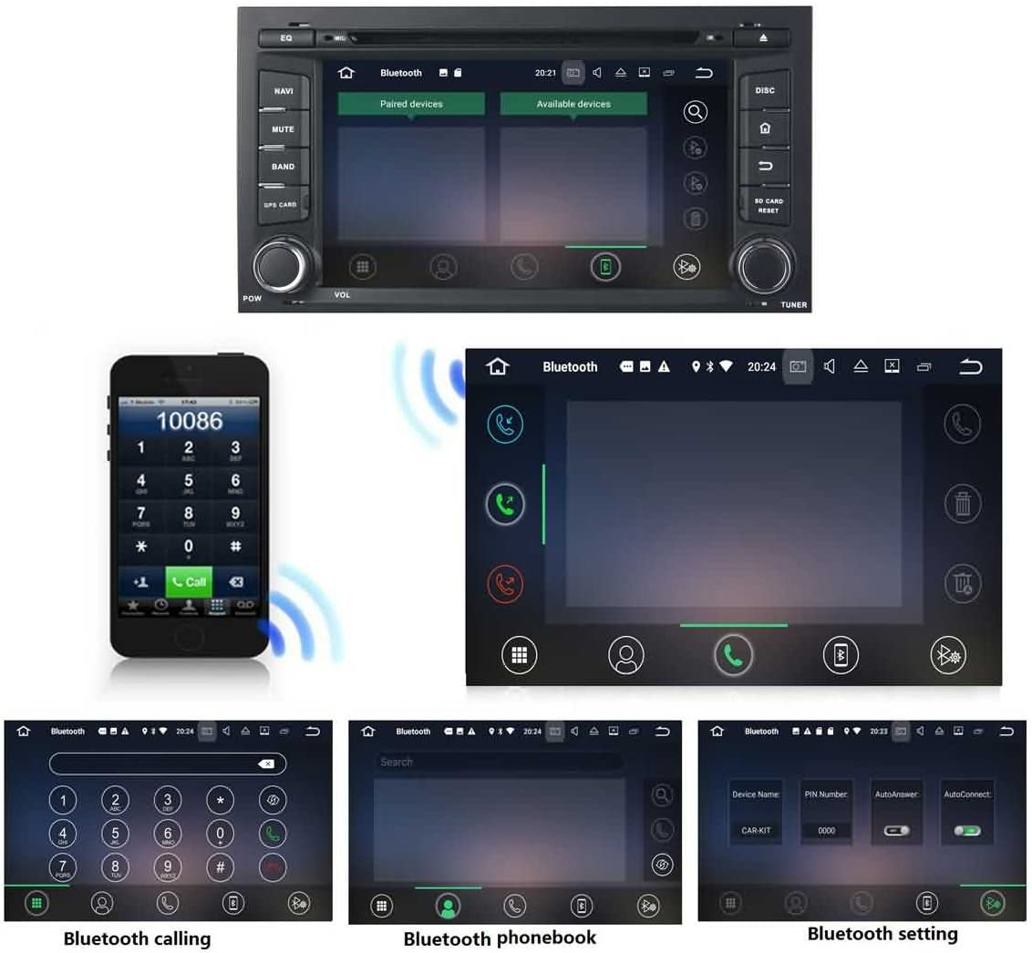 1 DIN 7 Pulgadas Coche Est/éreo con GPS Navegaci/ón Android 7.1 OS para Seat Leon 2014 2015,Pantalla T/áctil Capacitiva con 1.6G de la Cortex A9 Quad Core CPU 16G Flash 2G DDR3 RAM 1024x600 Radio