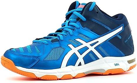 Asics - Zapatillas de voleibol para hombre, talla 49 – B600N-4301 - Modelo Gel Beyond, 5 m - Colores: azul, blanco y naranja fuerte: Amazon.es: Deportes y aire libre