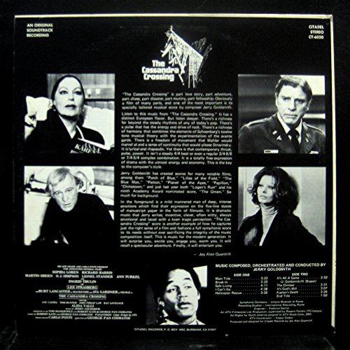 JERRY GOLDSMITH THE CASSANDRA CROSSING vinyl record
