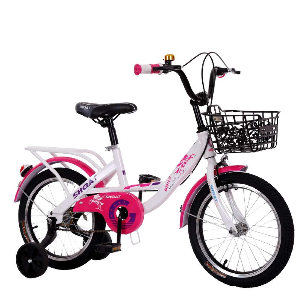 Defect Bicicletta Bambini Carrozzina per Bambini e Bambine di 5-8 Anni, con Cesto e stabilizzatore. Carrozzina per Bambini