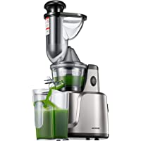 Juicer Masticating Slow Juicer, Aicook 3 In 1 Cold Press Juicer for Fruits, Vegetables, Baby Food & Smoothies, Extremely Quiet Juice Extractor, Ease to Clean, with Reverse Function & Non-Slip Feet