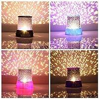 Generico colorido Crepúsculo Romántico Estrella del cielo Lámpara maestra del proyector Luz de noche estrellada LED Luz de la cama del dormitorio de los niños para la luz de Navidad (púrpura)