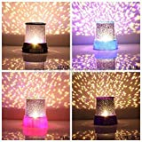 Features: Projects colorful stars and hearts on your ceiling and walls.   Features two function keys - STAR and LED.   You can adjust its base for different scenes, which make it look more fantastic.   Best choice for proposing, wedding, part...