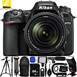 Nikon D7500 with Nikon AF-S 18-140mm ED VR Lens 13PC Accessory Bundle - Includes 64GB SD Memory Card + 72 Monopod + 72 Tripod + Video Stabilizing Handle + Tripod Dolly + Sling Backpack + MORE