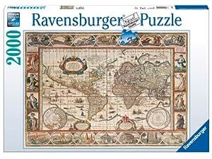 Ravensburger - Mapamundi 1650, puzzle de 2000 piezas (16633 6)