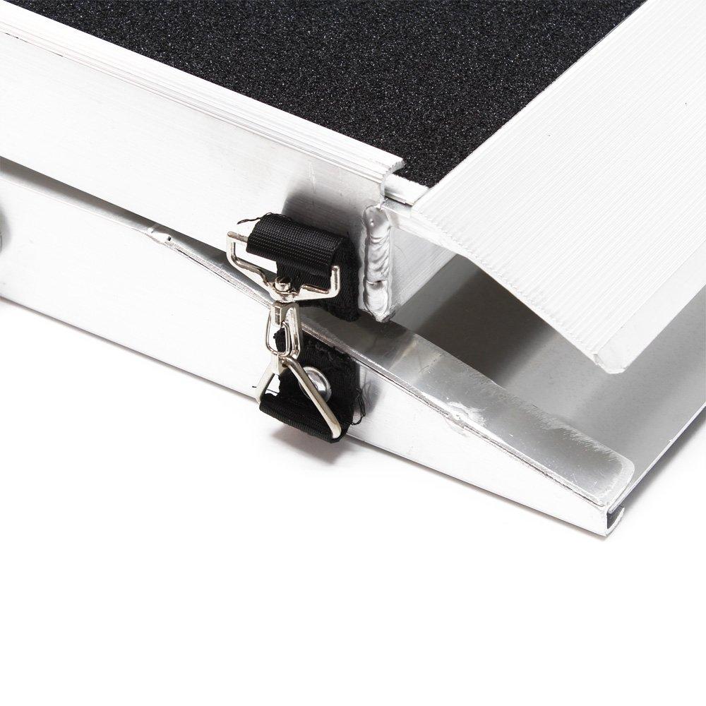 Rampa perros mascotas plegable aluminio superficie antideslizante coche 122x38cm 110kg Ayuda acceso