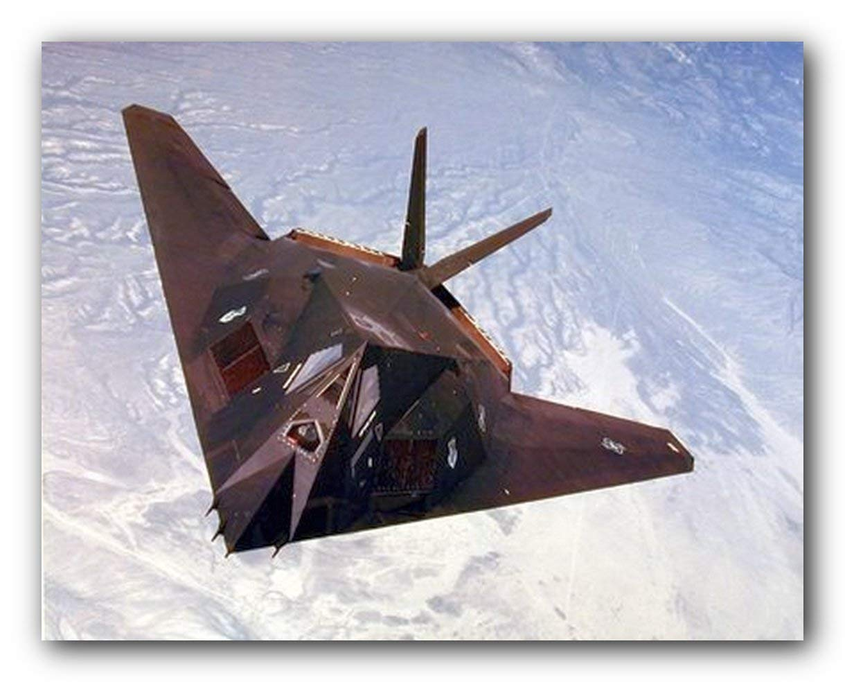 Wall Decor USAF F-117A Stealth Fighter Jet Aviation Aircraft Art Poster 16x20