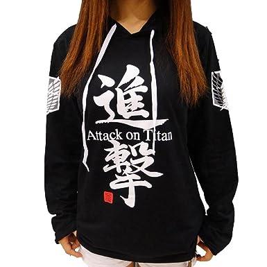 Sudadera de la marca Jeylu, con el texto «Attack on Titan» impreso