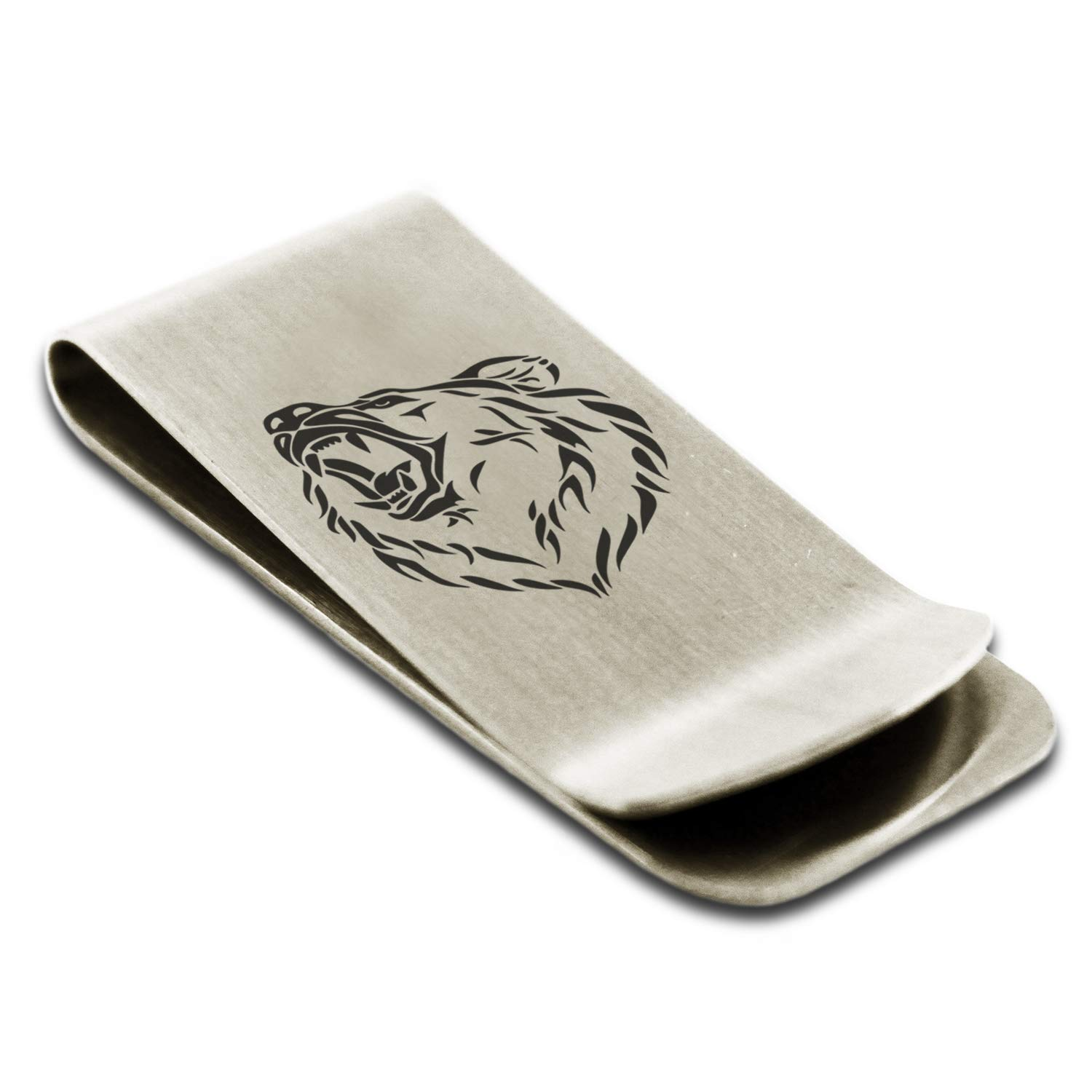 Stainless Steel Bear Money Clip Credit Card Holder