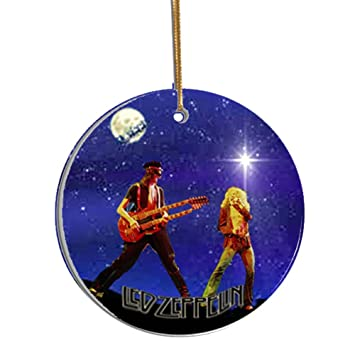 led zeppelin collectible christmas ornament gift boxed porcelain disc image on both sides robert - Led Zeppelin Christmas