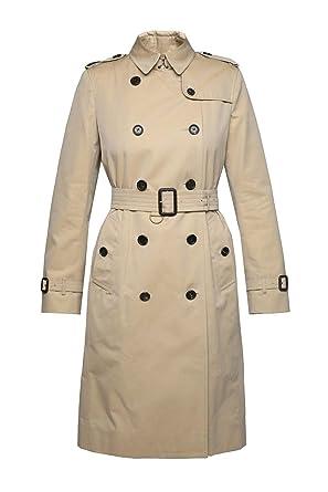cb2b3b2225c464 BURBERRY Femme 400690570500 Beige Coton Trench Coat  Amazon.fr ...