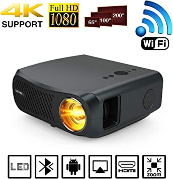 Proyector Full HD 1080P Native 5500 Lumens Soporte 4K LED LCD WiFi ...