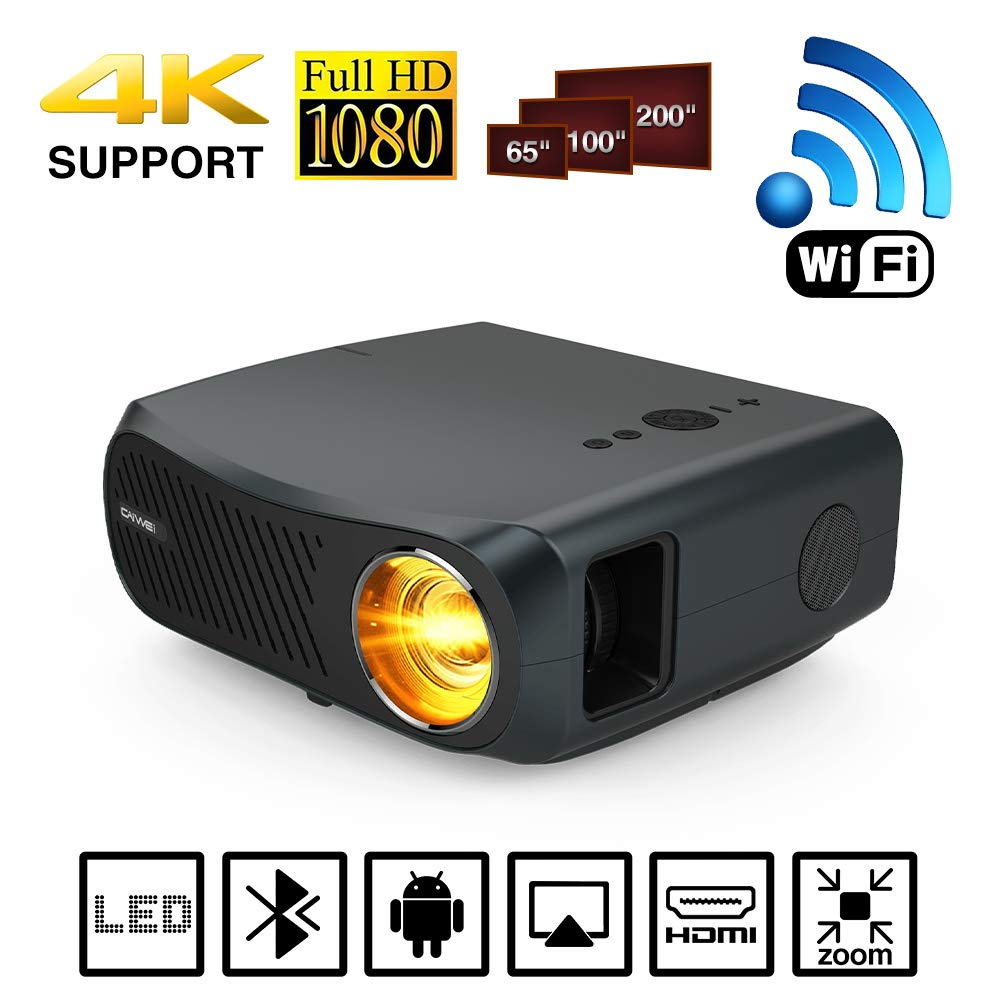 LED 1080P Proyector Bluetooth inalámbrico WiFi 5500 Lumen ...