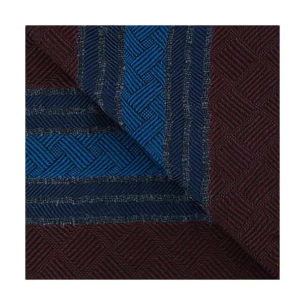 New-Cesare-Attolini-Burgundy-Red-Cotton-Blend-Scarf