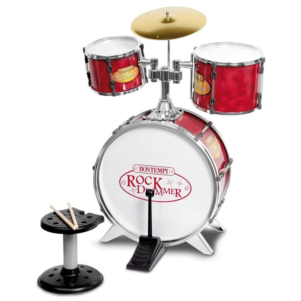 Bontempi Metallic Silver 4 Piece Drum Set by Bontempi