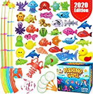 GoodyKing Magnetic Fishing Game Pool Toys for Kids - Magnetic Fishing Toy for Toddlers Bath-tub Outdoor Indoor