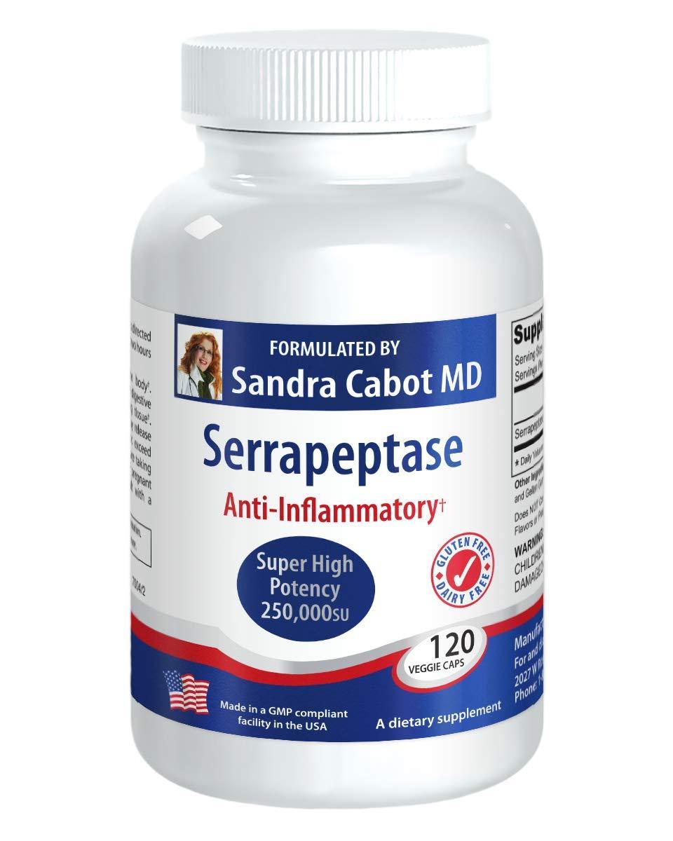 Amazon.com: Serrapeptase Super High Potency 250,00su 120 ...