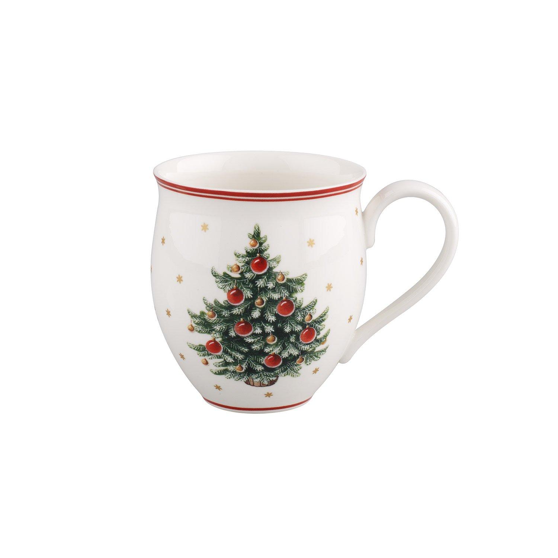 Villeroy & Boch Toys Delight Taza Grande Árbol de Navidad, Juego de 2 Piezas, 440 ML, Porcelana Premium, Blanco/Rojo: Amazon.es: Hogar