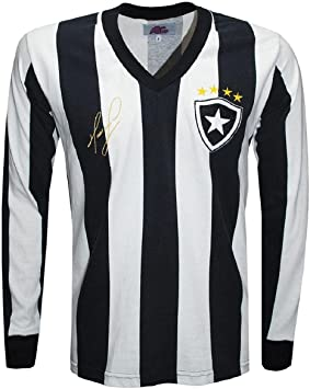 Camisa Botafogo Maurício 1989 Liga Retrô Longa Listrada p
