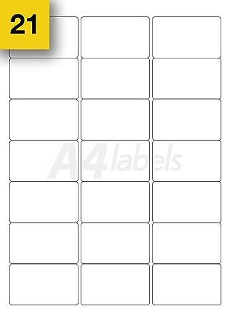 Self Adhesive Vinyl 20 x A4 WHITE MATT SHEETS sticky back plastic 210x297mm