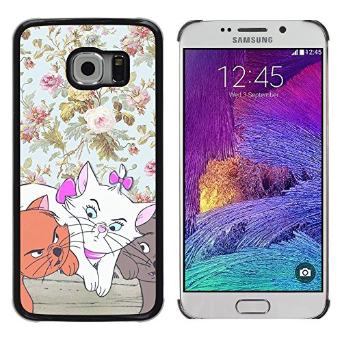 Plastic Shell Protective Case Cover || Samsung Galaxy S6 EDGE SM-G925 || Wallpaper Cartoon Cat @XPTECH