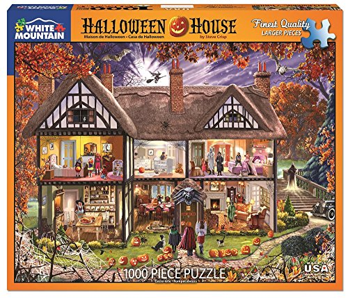 Halloween House Jigsaw Puzzle 1000 Piece by White (Halloween Games Puzzles)