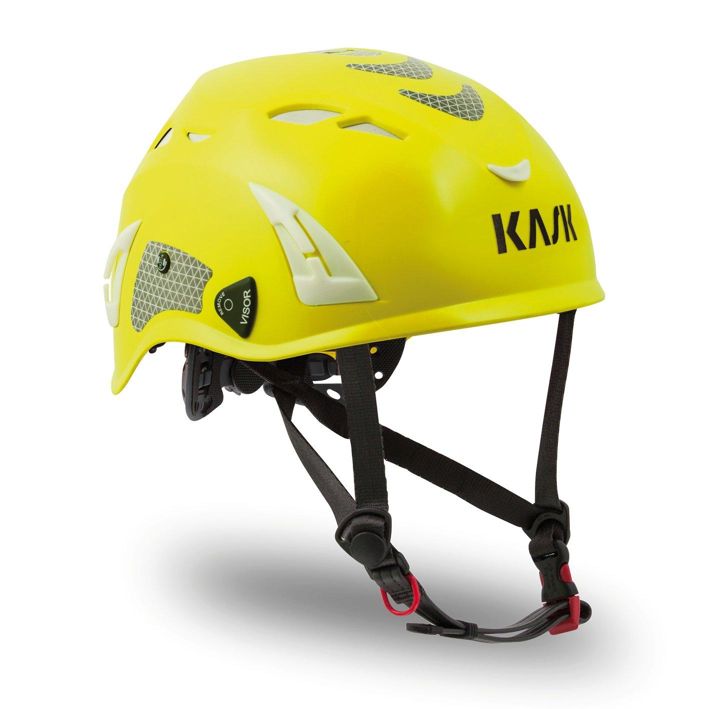 Kask Super Plasma HI VIZ Arborist Safety Helmet Yellow WHE00037.221
