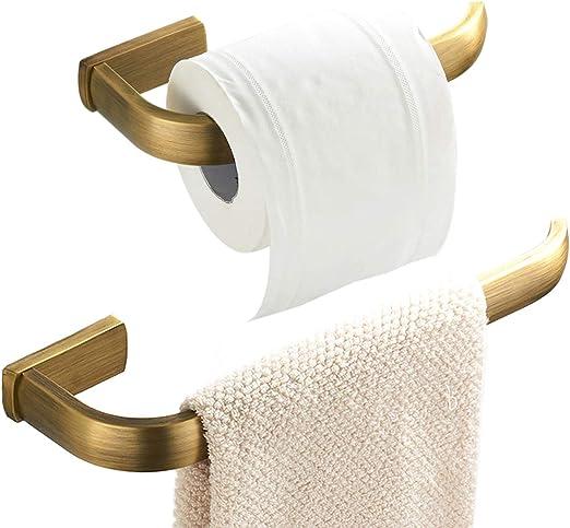 3 Piece Set Robe Hook Kit 3 Piece Bathroom Accessory Set Towel Ring Toilet Roll Holder
