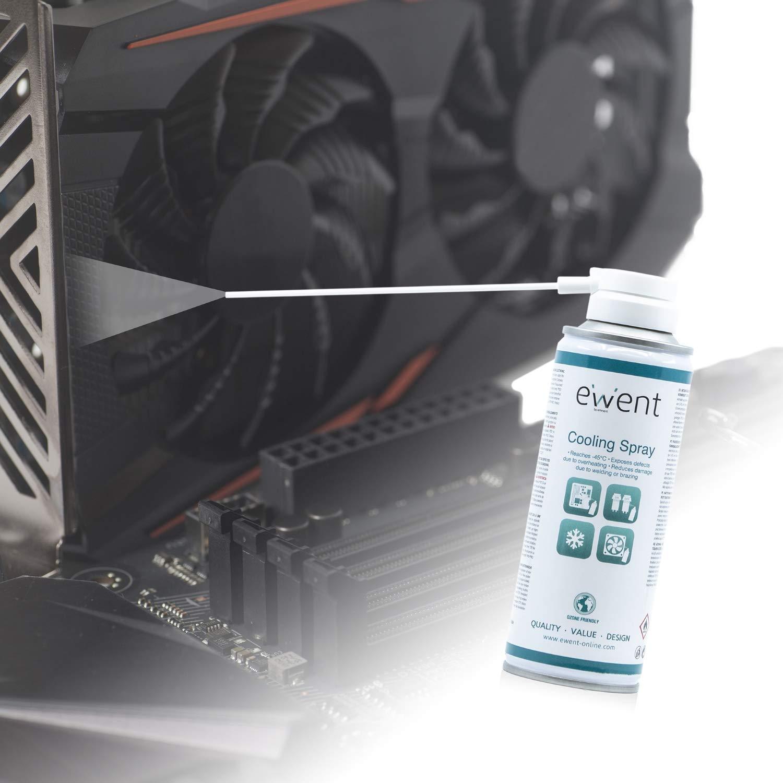 Ewent EW5616 - Pulverizador de refrigeración de Efecto instantáneo Spray 200ml, Color Blanco: Amazon.es: Informática